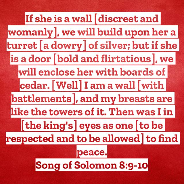 Song of Solomon 8:9-10 AMPC