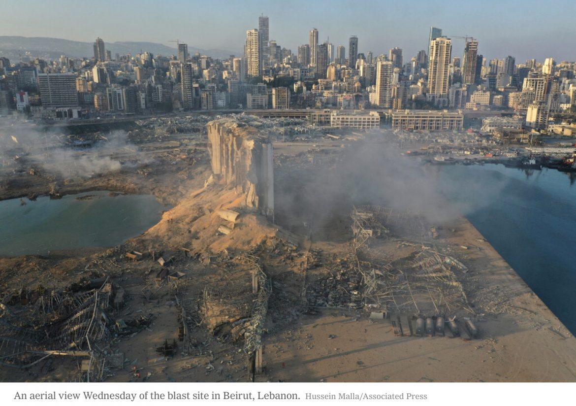 Ammonium Nitrate Explosion Rocks and Levels Portions of Downtown Beirut
