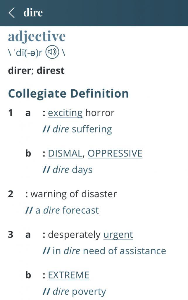 Definition-dire