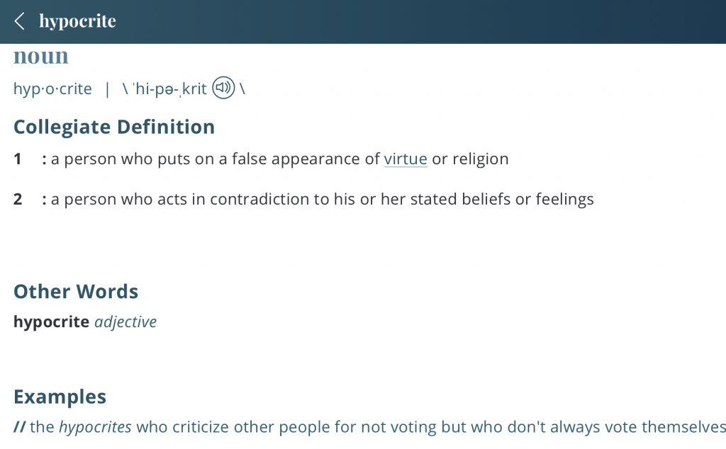 Hypocrite-definition