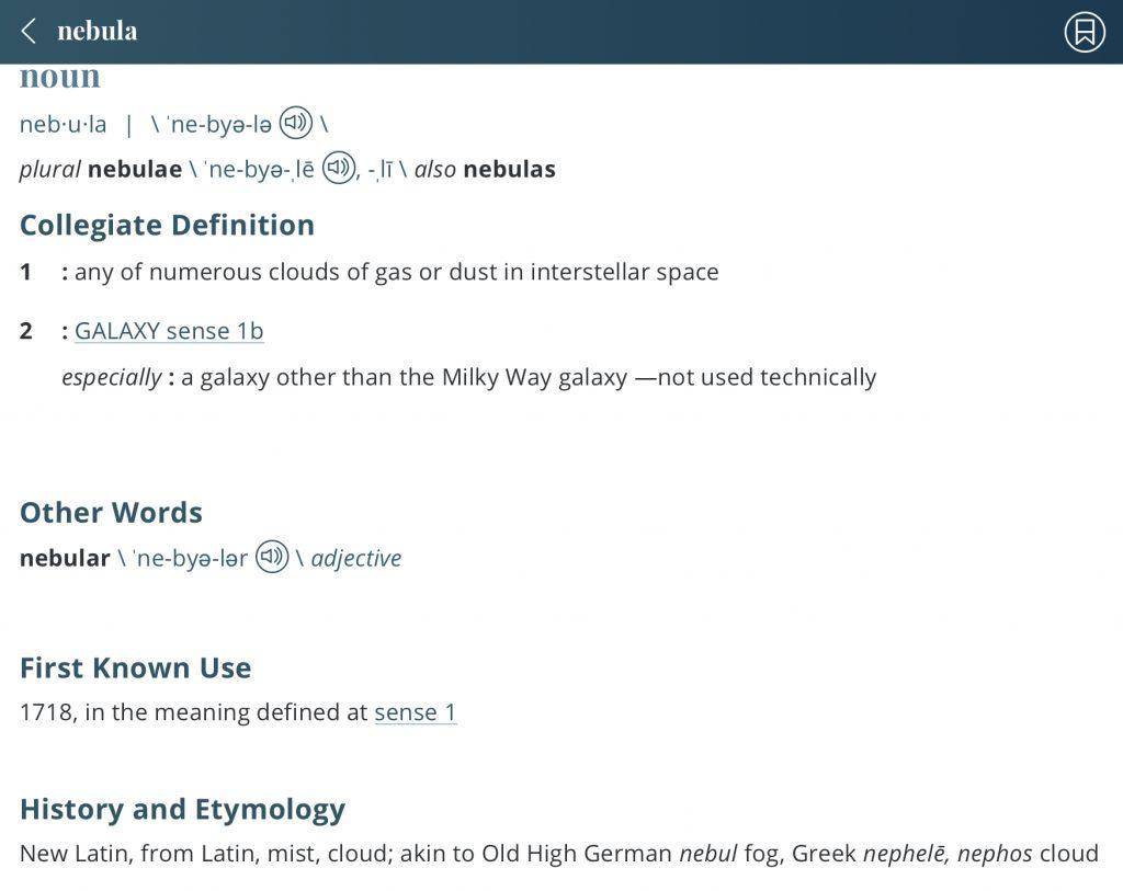 Nebula-definition