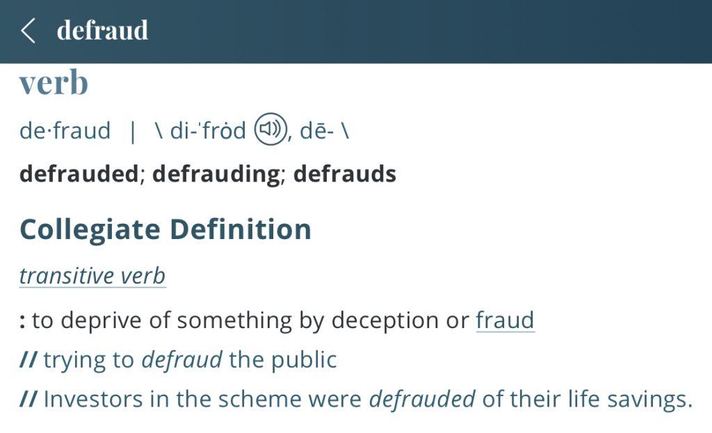 Definition-defraud