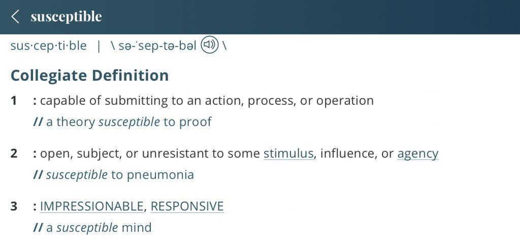 Definition-susceptible