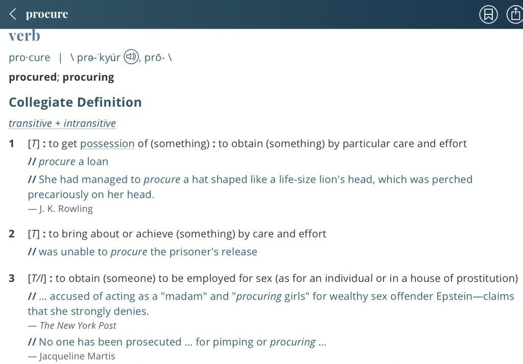 Definition-procure