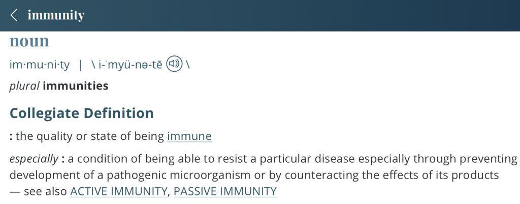 Definition-immunity