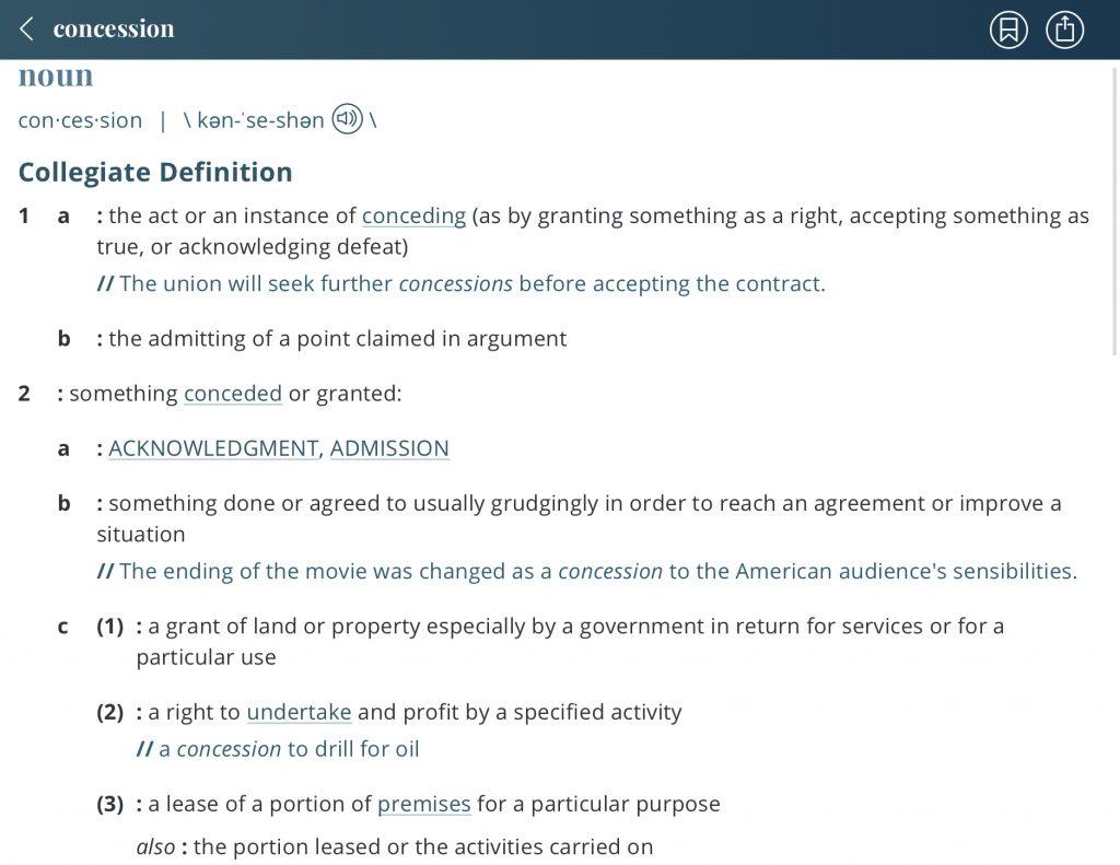 Definition-concession