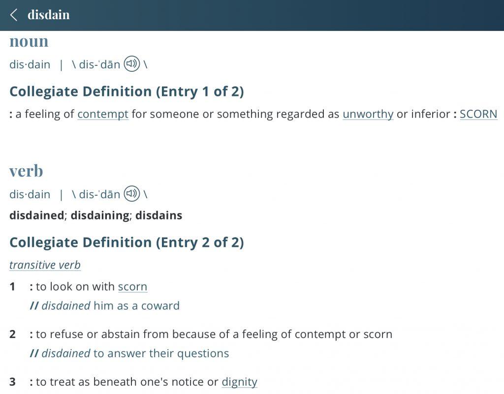 Definition-disdain
