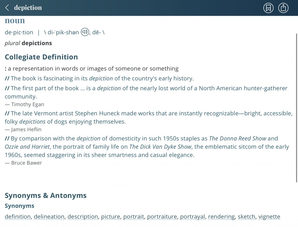 Definition-depiction