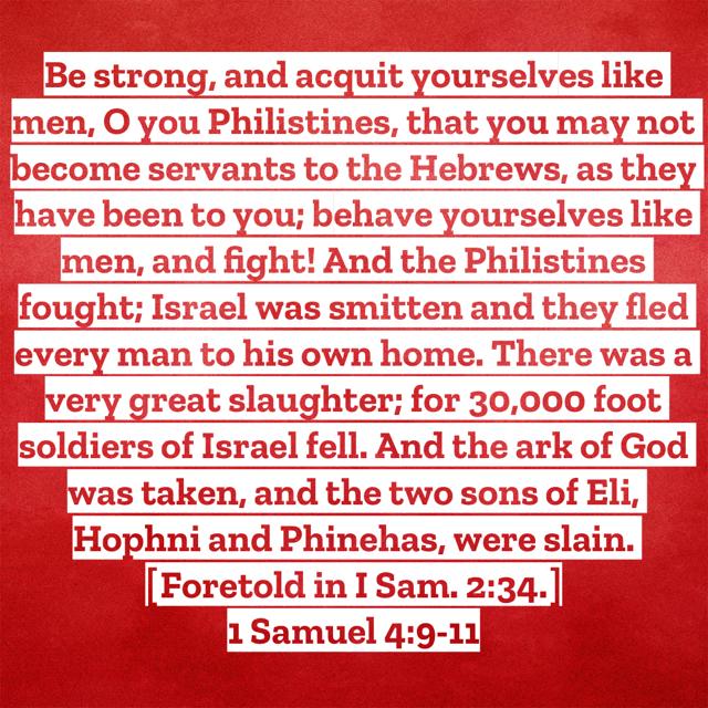 1Sam4:9-11