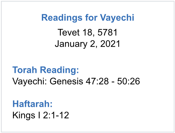 Vayechi-Parshah-Reading