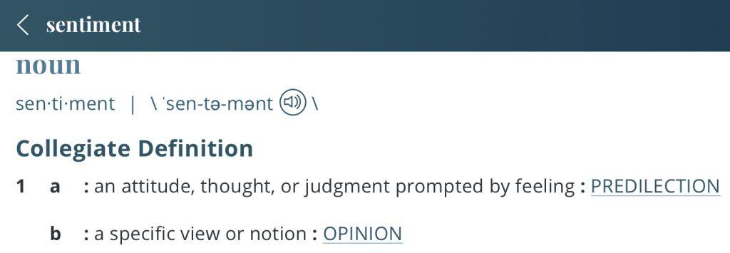 Definition-sentiment