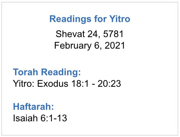 Readings-for-Yitro