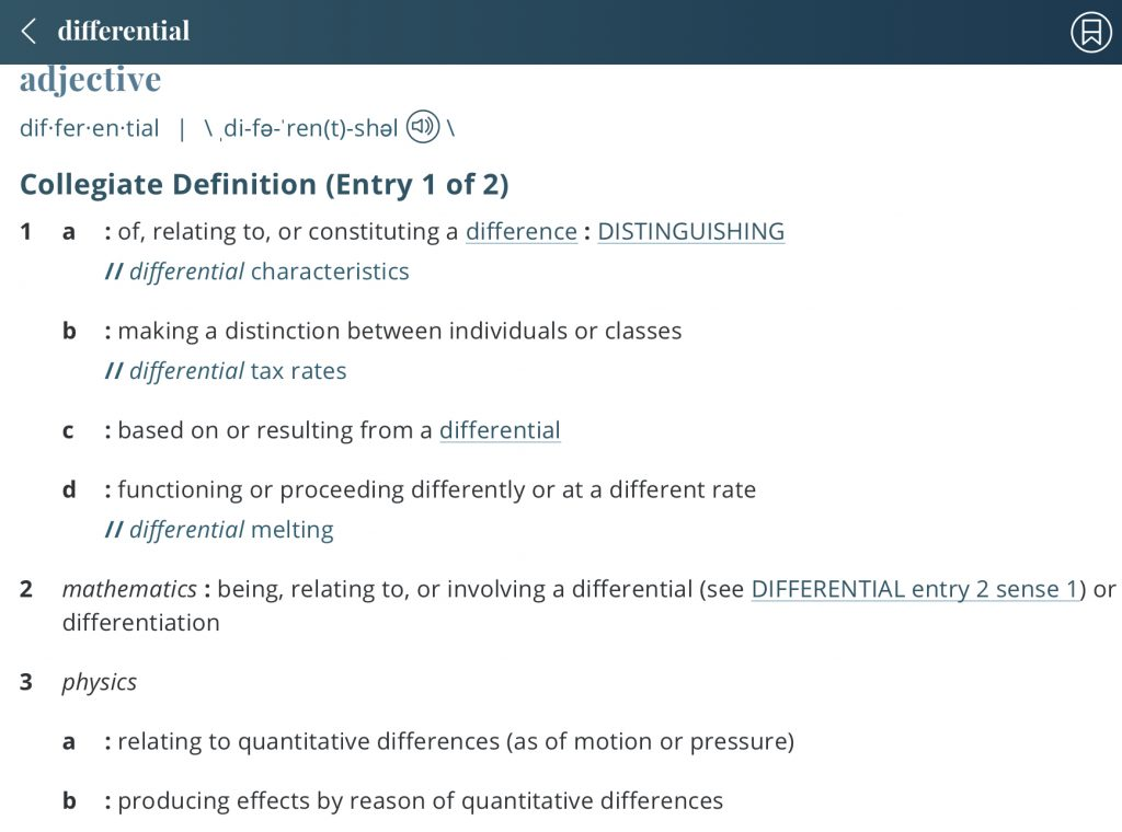 Definition-differential