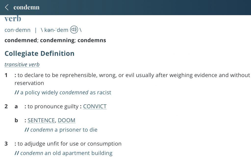 Definition-condemn