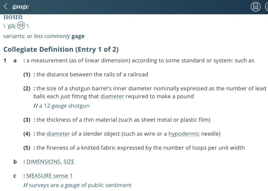 Definition-gauge
