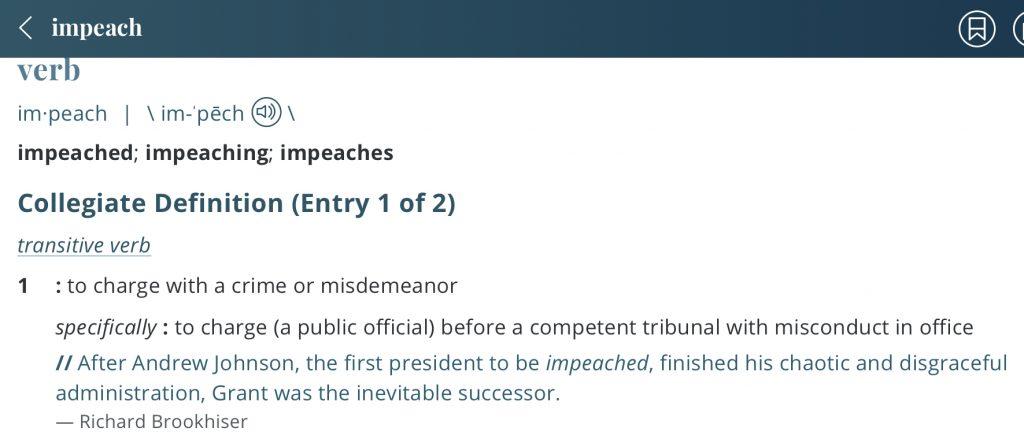 Definition-impeach