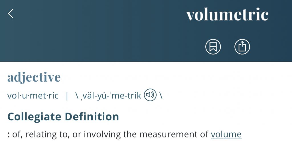 Definition-volumetric
