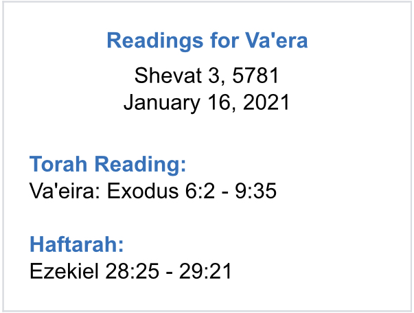 Va'era-Reading-Plan