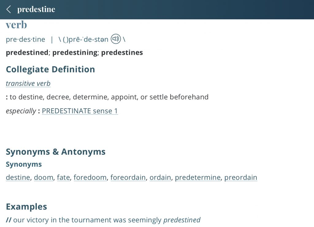 Definition-predestined