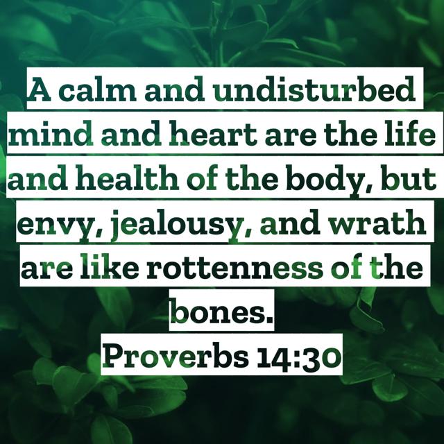 Proverbs14:30