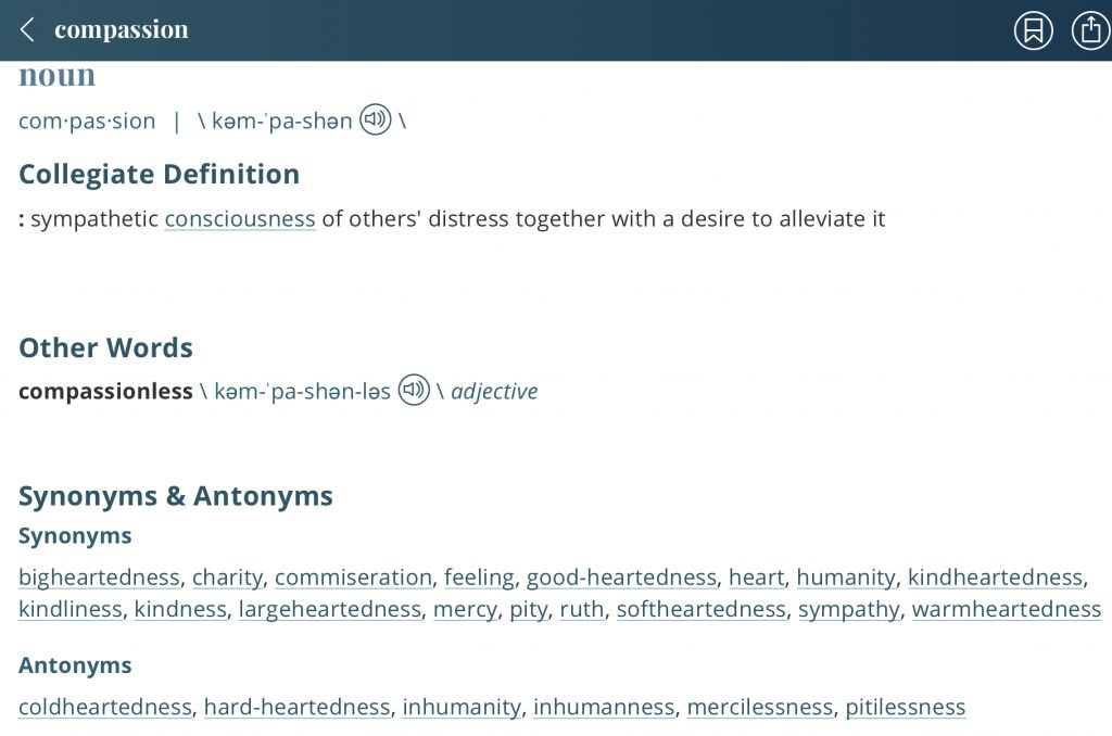 Definition-compassion