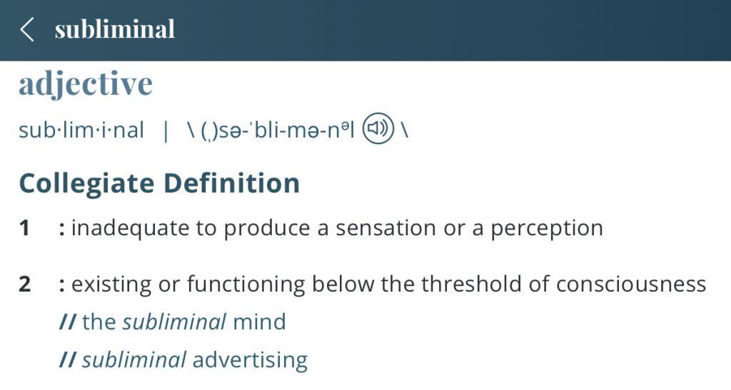 Definition-subliminal