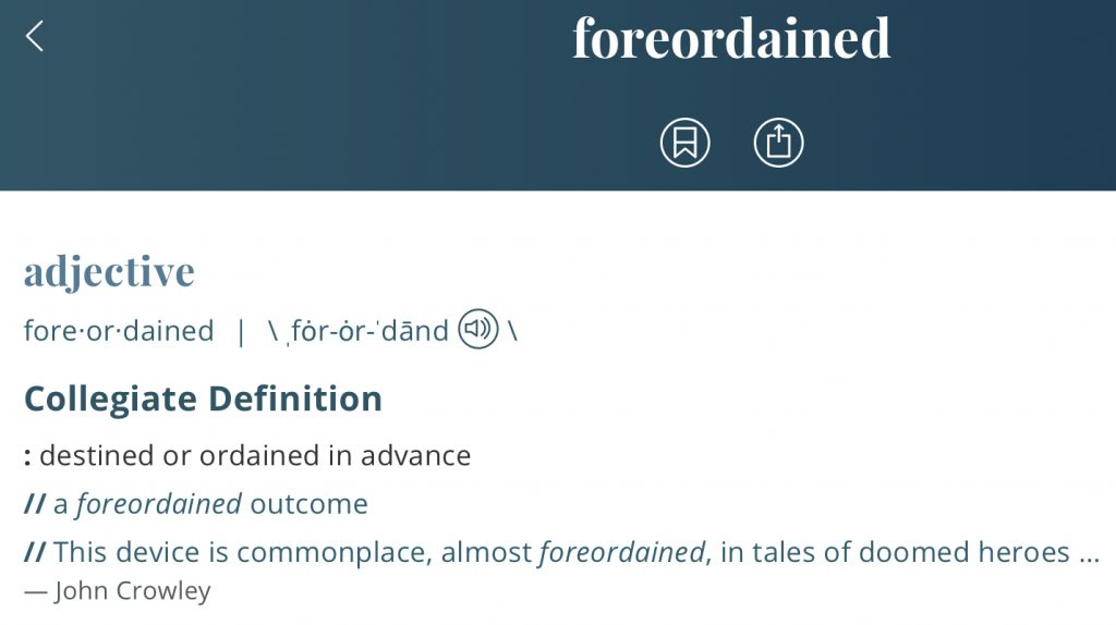 Definition-foredestined