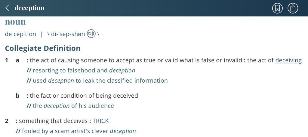 definition-deception