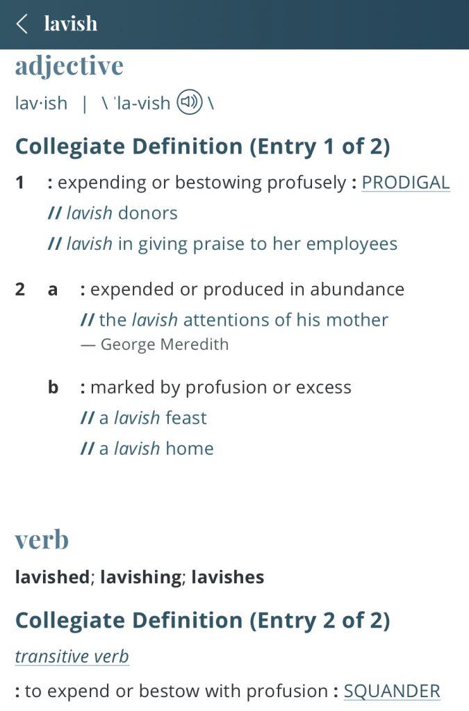 definition-lavish