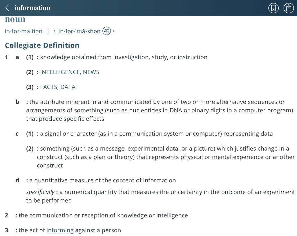 definition-information