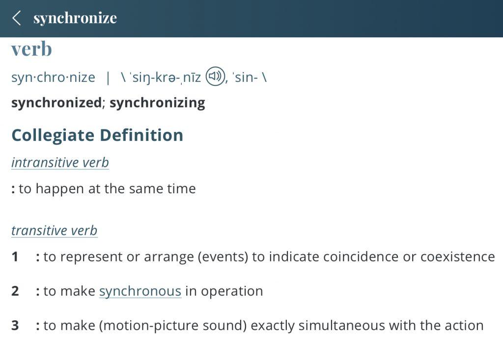 definition-synchronize