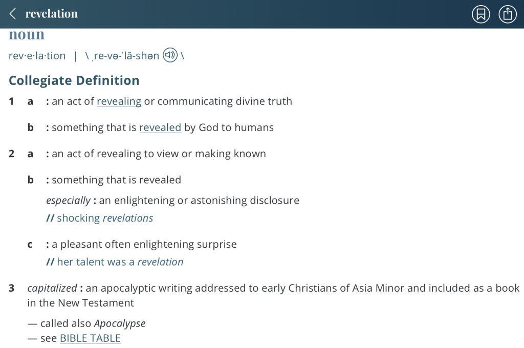 definition-revelation