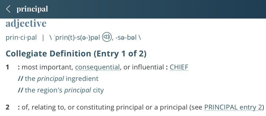 definition-principal