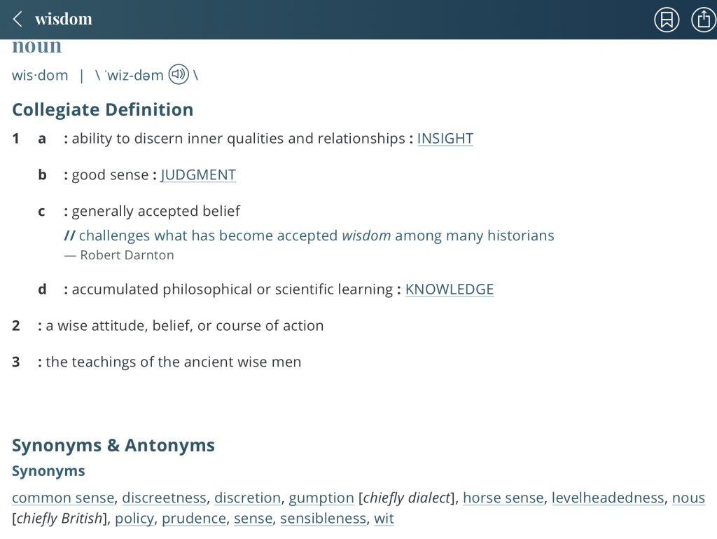 definition-wisdom