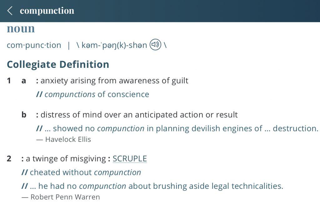 definition-compunction