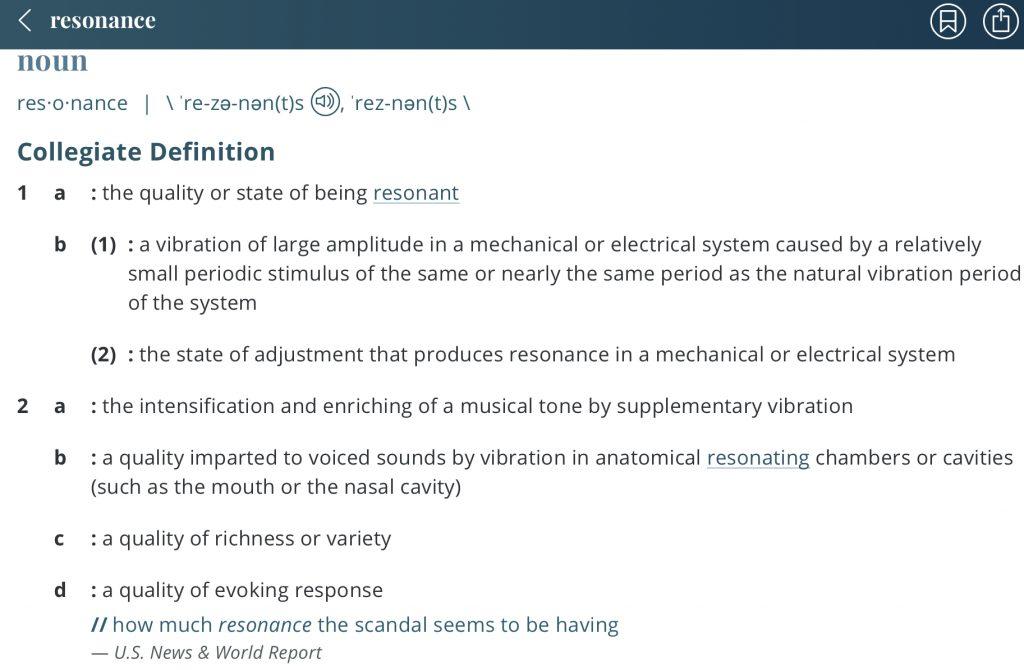 definition-resonance