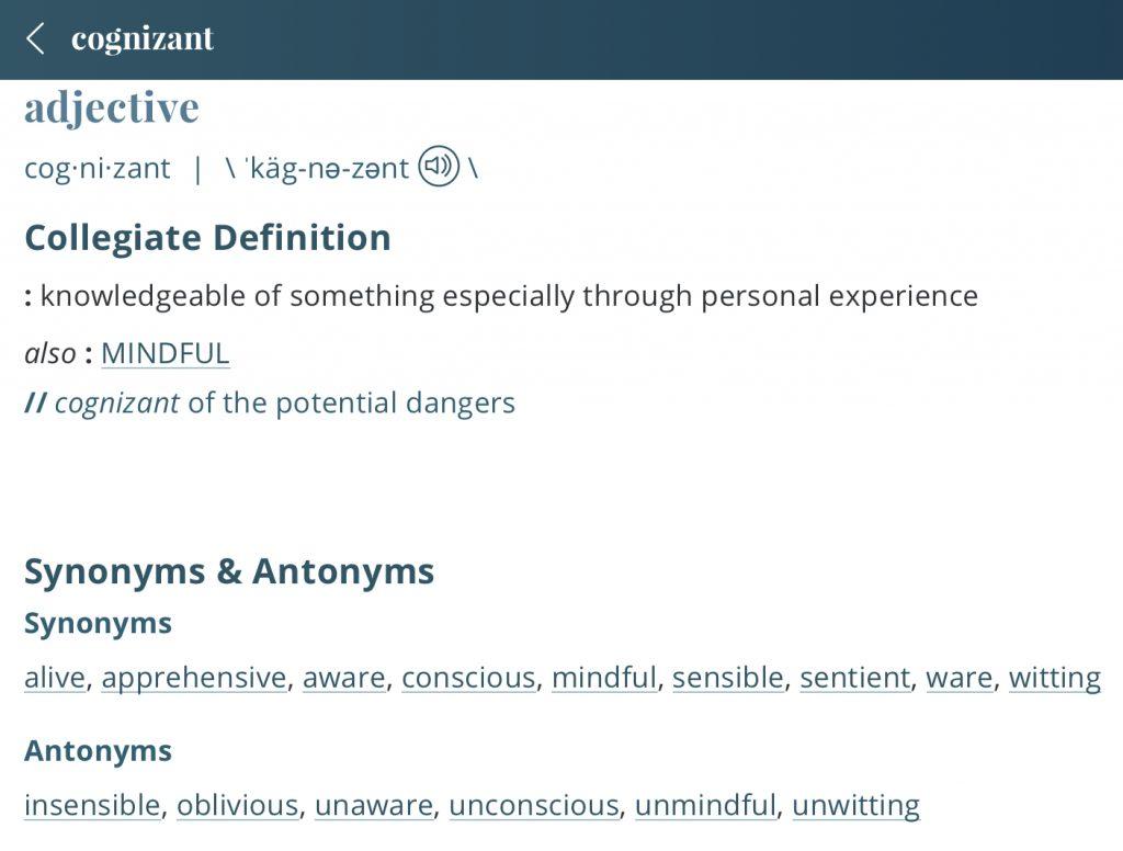 Definition-cognizant