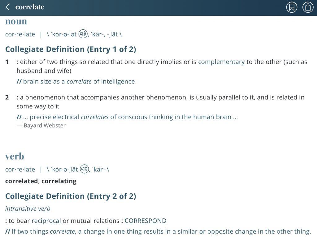 Definition-correlate
