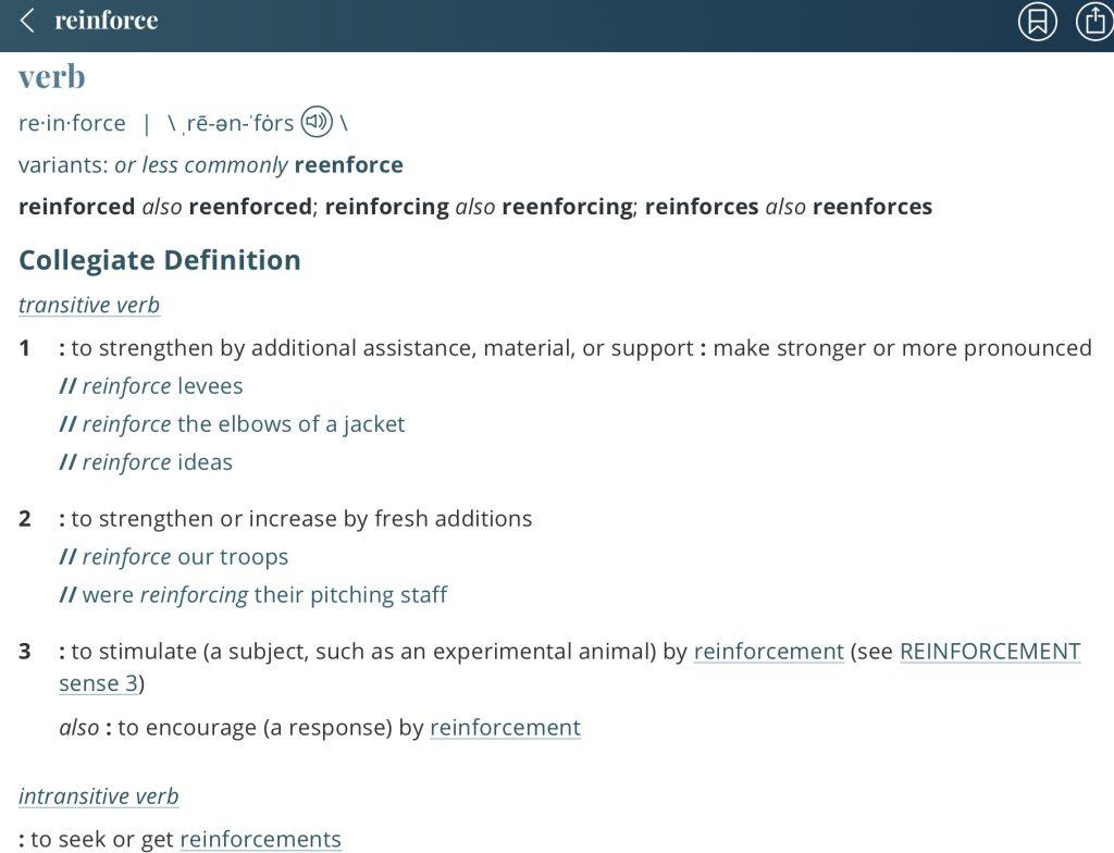 Definition-reinforce