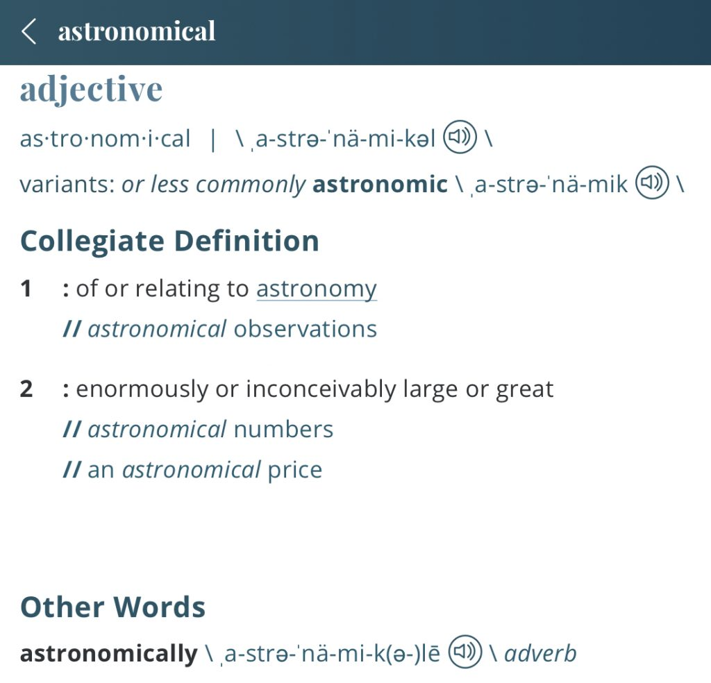 Definition-astronomical