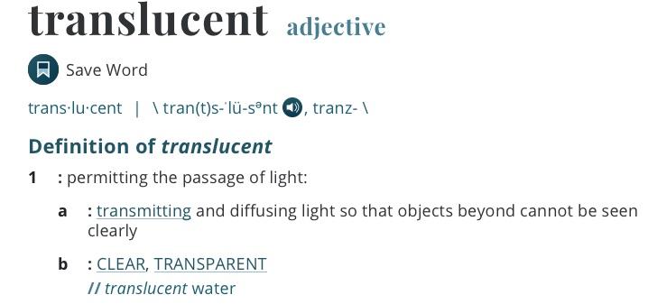 definition-translucent