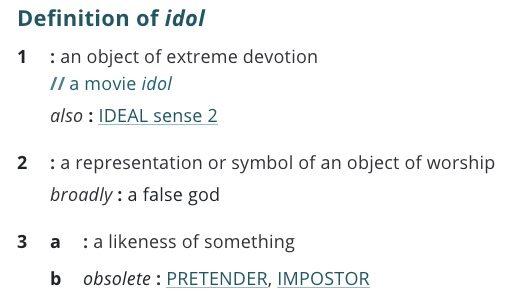definition-idol