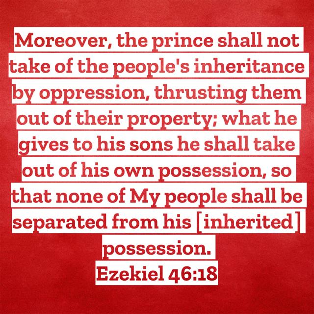 Ezekiel-46:18