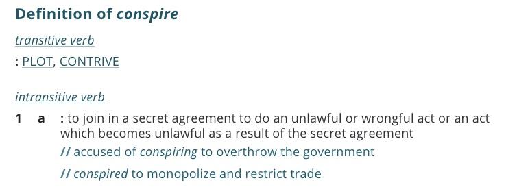 definition-conspire