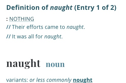 definition-naught