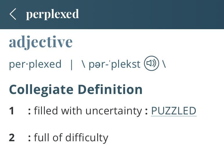 definition-perplexed