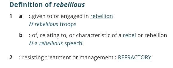 definition-rebellious