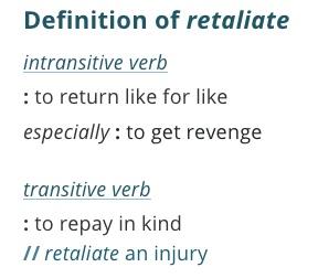 definition-retaliate